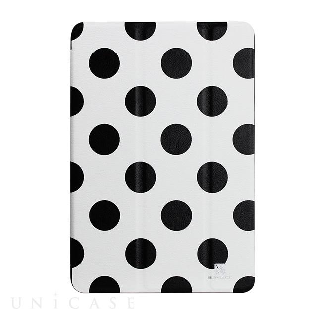 【iPad mini3/2/1 ケース】B&Wシリーズ ドット柄ケース ブラック/ホワイト IPMRBWDT