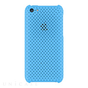 【iPhone5c ケース】MESH SHELL CASE MAT BLUE