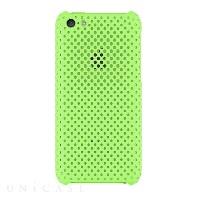iphone5c ケース mesh shell case mat green irual iphoneケースはunicase