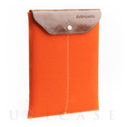 iPad sleeve orange felt