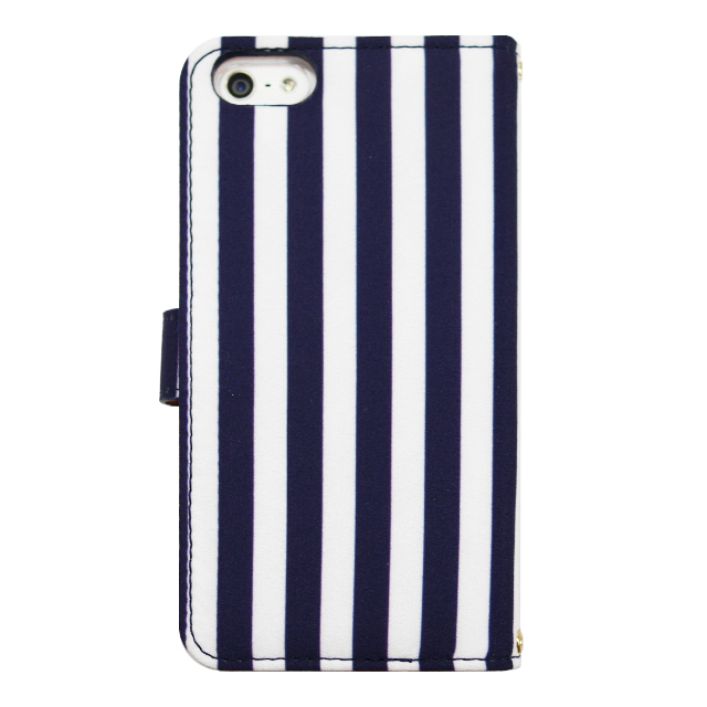 【iPhone5s/5 ケース】La Boutique ストライプ iPhoneケース for iPhone5s/5(NV)