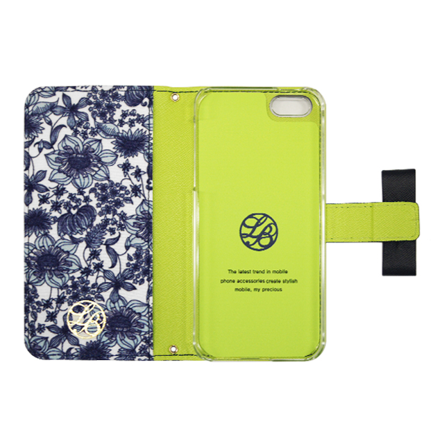 【iPhone5s/5 ケース】La Boutique フラワー iPhoneケース for iPhone5s/5(BL)サブ画像