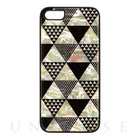 【iPhoneSE/5s/5 ケース】Natural Pearl Case (Pyramid/ブラックフレーム)