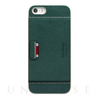 【iPhoneSE/5s/5 ケース】D6 Italian Minerva Box Leather Card Pocket Bar (オリーブ)