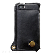 【iPhone5s/5 ケース】BZGLAM Wearable Leather Cover ブラック