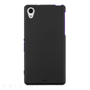 【XPERIA Z2 ケース】Hybrid Tough Case Black/Purple