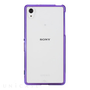 【XPERIA Z2 ケース】Hybrid Tough Naked Case Clear/Purple