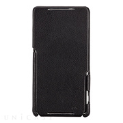 【XPERIA Z2 ケース】Signature Flip Case Black