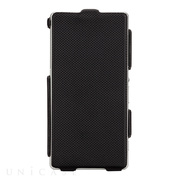【XPERIA Z2 ケース】Slim Flip Case Black