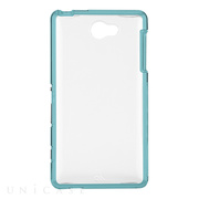 【XPERIA ZL2 ケース】Hybrid Tough Naked Case Clear/Turquoise