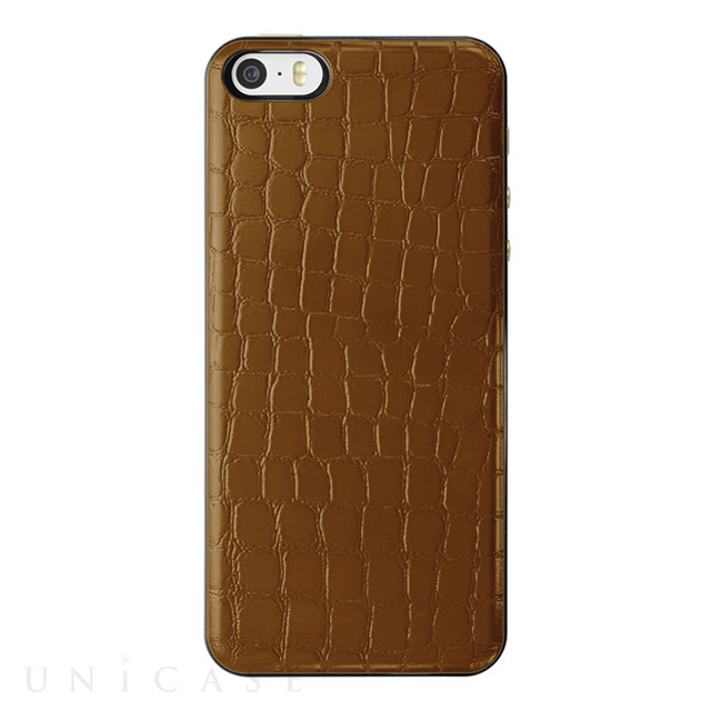 【iPhoneSE/5s/5 ケース】IC-COVER Slim Leather (レザー調ブラウン)