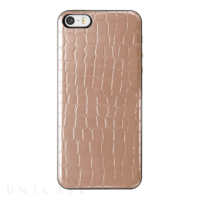 【iPhoneSE/5s/5 ケース】IC-COVER Slim Leather (レザー調ゴールド)