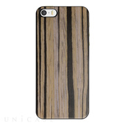 【iPhoneSE/5s/5 ケース】IC-COVER Slim Wood (木目調ゴールデンケーン)