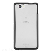 【XPERIA A2/Z1 f ケース】Hybrid Tough Naked Case Clear/Black