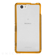 【XPERIA A2/Z1 f ケース】Hybrid Tough Naked Case Clear/Orange