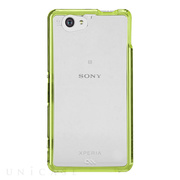 【XPERIA A2/Z1 f ケース】Hybrid Tough Naked Case Clear/Lime