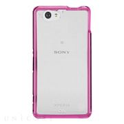 【XPERIA A2/Z1 f ケース】Hybrid Tough Naked Case Clear/Pink