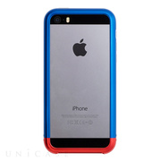 【iPhoneSE/5s/5 ケース】Duralumin Bumper (Blue×Red)