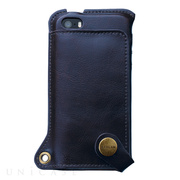 【iPhone5s/5 ケース】BZGLAM Wearable Leather Cover ネイビー