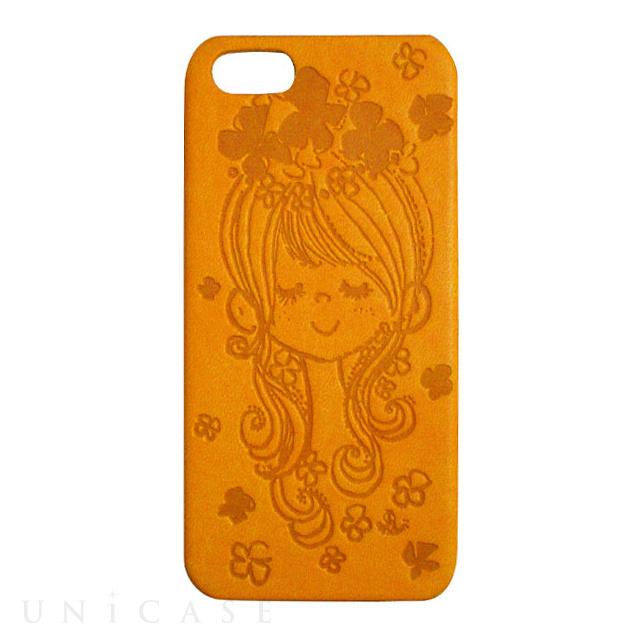 【iPhone5s/5 ケース】水森亜土 イタリアンPU(フラワー/CYE)
