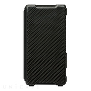 【XPERIA Z2 ケース】 Carbon & Leather Case for Xperia Z2 Shadow Black