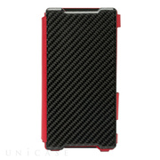 【XPERIA Z2 ケース】 Carbon & Leather Case for Xperia Z2 Signal Red
