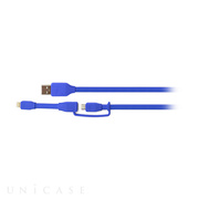 DUO SYNCABLE - MICRO/LIGHTNING - USB/0.3M BLUE