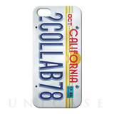 【iPhoneSE/5s/5 ケース】CollaBornデザインケース (Numberplate[CALIFORNIA])