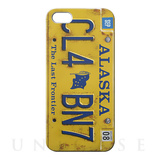 【iPhoneSE/5s/5 ケース】CollaBornデザインケース (Numberplate[Alaska] )