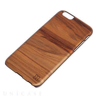 【iPhone6 ケース】天然木ケース Cappucino ブラックフレーム
