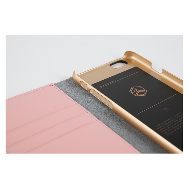 【iPhone6s/6 ケース】D5 Calf Skin Leather Diary (ネイビー)