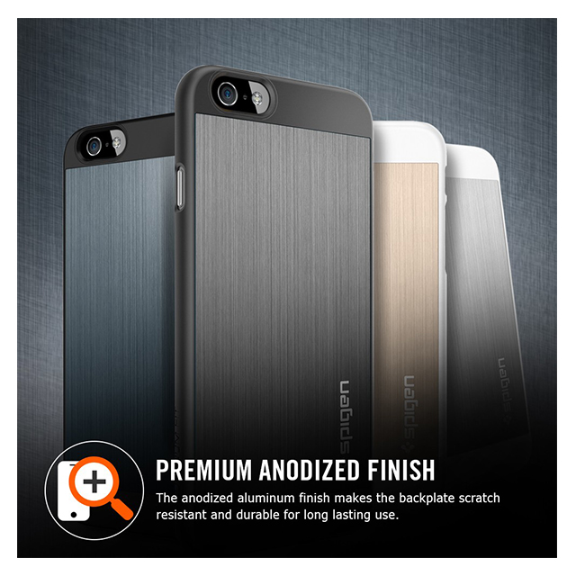 【iPhone6 ケース】Aluminum Fit Satin Silver
