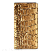 【iPhone6s Plus/6 Plus ケース】Gold Croco Diary