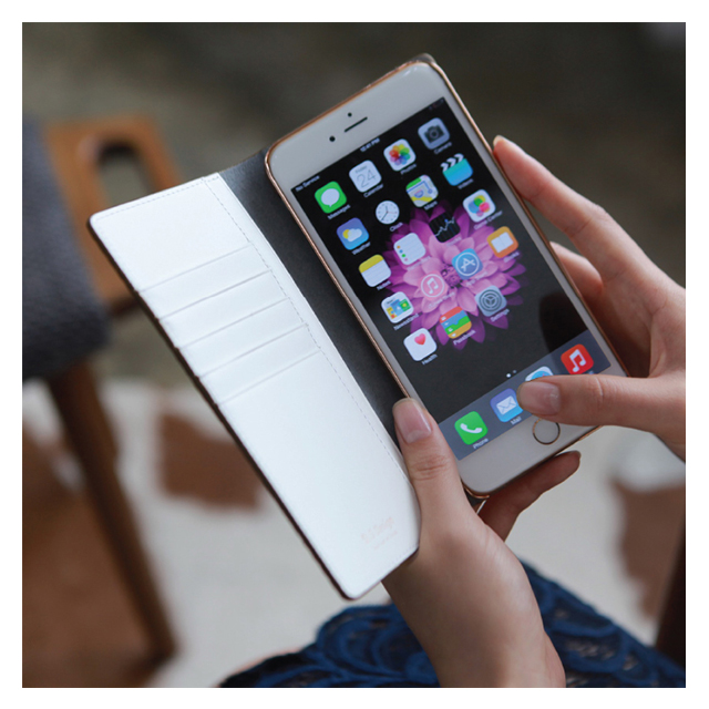 【iPhone6s Plus/6 Plus ケース】D5 Calf Skin Leather Diary (レッド)サブ画像