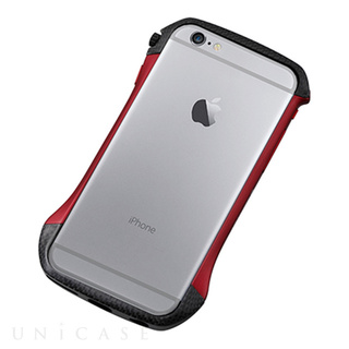 iPhone6 ケース CLEAVE Hybrid Bumper Carbon&Red