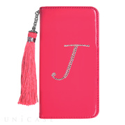"【iPhone6s/6 ケース】イニシャルウォレットケース ""J"" ピンク for iPhone6s/6"