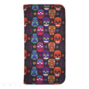 【iPhone6s/6 ケース】YAKPAK ウォレットケース for iPhone6s/6 (Hippie Skulls Black)