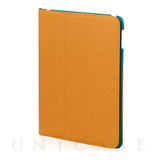 【iPad Air2/Air ケース】LeatherLook Classic with Front cover (キャメルブラウン/マリンブルー)