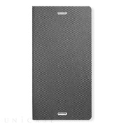 【XPERIA Z3 ケース】Metal Square Cover Diary (シルバー)