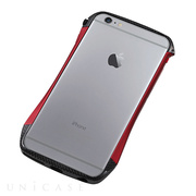 【iPhone6s Plus/6 Plus ケース】CLEAVE Hybrid Bumper (Carbon&Red)