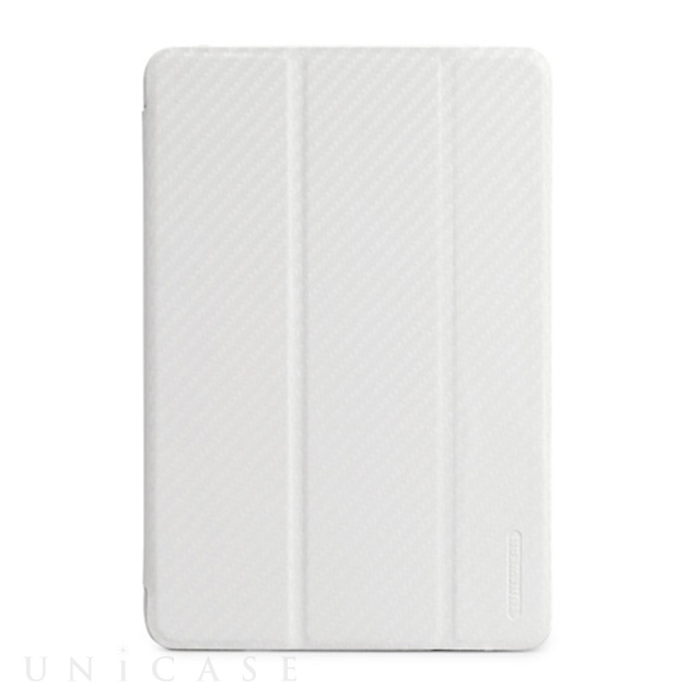 【iPad mini3/2/1 ケース】CarbonLook SHELL with Front cover for iPad mini カーボンホワイト