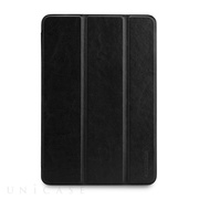 【iPad mini3/2/1 ケース】LeatherLook SHELL with Front cover for iPad mini ジェットブラック