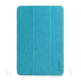 【iPad mini3/2/1 ケース】LeatherLook SHELL with Front cover for iPad mini パウダーブルー