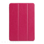 【iPad mini3/2/1 ケース】LeatherLook SHELL with Front cover for iPad mini ローズピンク
