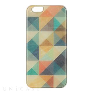 iPhone6 ケース 天然貝ケース Mosaic ホワイトフレーム