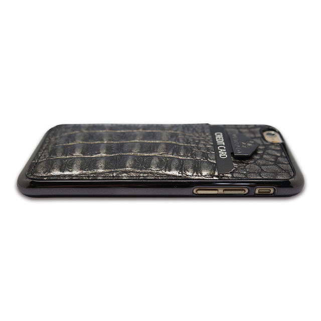 【iPhone6s/6 ケース】i-Pocket (Premium Croco チョコシルバー)