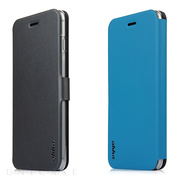【iPhone6s Plus/6 Plus ケース】Dual Face Flip Case SYKES BASIC Space Grey/Ocean Blue