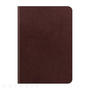 【iPad Air2 ケース】D5 Calf Skin Leather Diary ダークブラウン