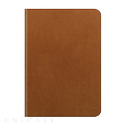 【iPad Air2 ケース】D5 Calf Skin Leather Diary タンブラウン