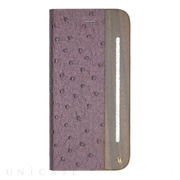 【iPhone6s/6 ケース】Wooden Case with Ostrich design Purple